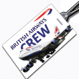 British Airways 747 Crew Tag
